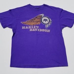 Vintage | Rare Harley-Davidson Single Stitch Eagle